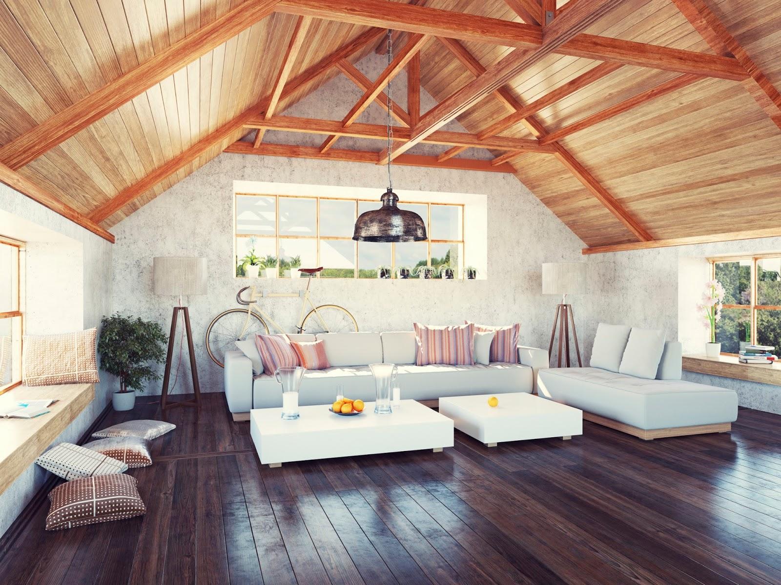 Design a room in the attic: turn the cluttered attic into a cozy attic 60