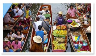 Bangkok Floating Market & Dinner Cruise Tour - Pilihan Hotel & Paket Tour di Bangkok - Thailand