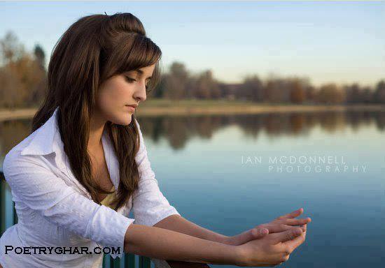 Sad And Alone Girl at the lake