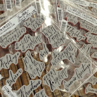 Tim Holtz Mini Handwritten Stamp
