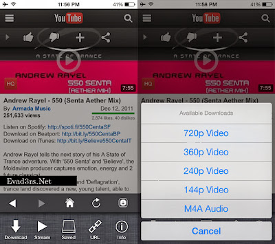 Protube best youtube downloader for iphone ipad running on ios 7 ccuart Choice Image