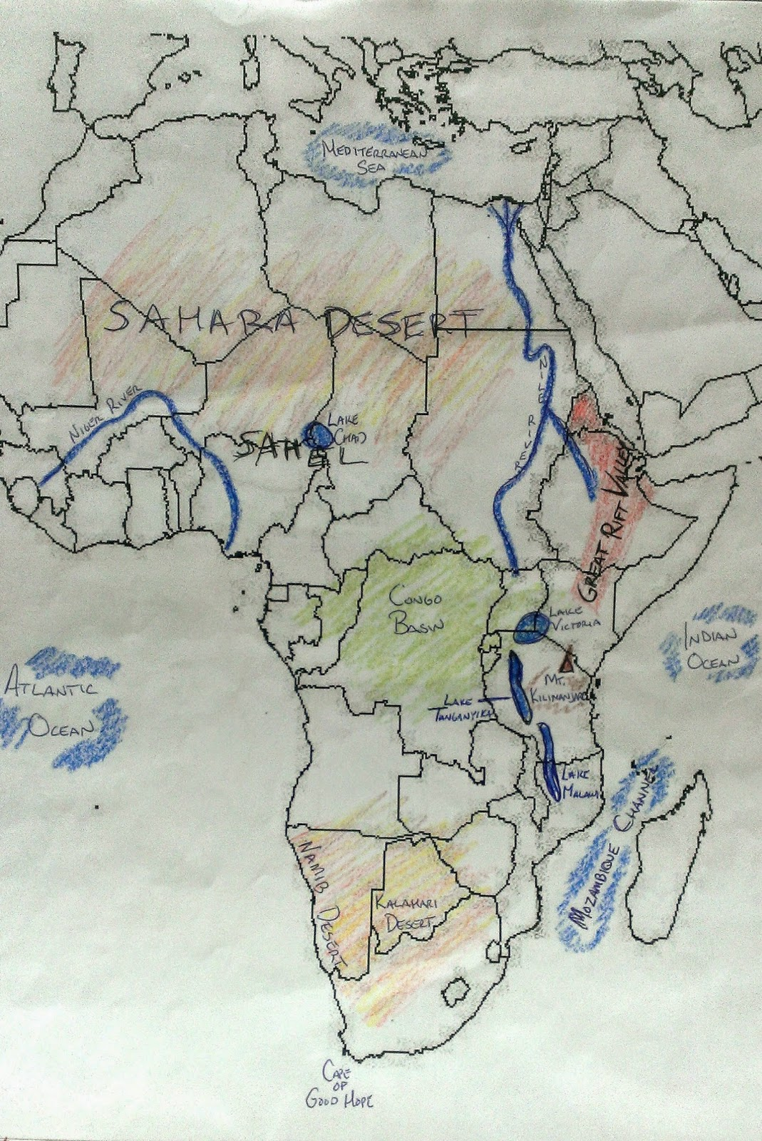 Mr lawheads world geography africa physical map africa physical map gumiabroncs Image collections