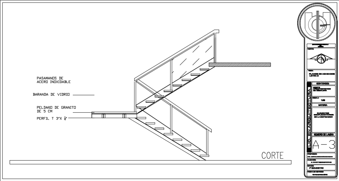 Planos de escaleras for Escaleras para planos