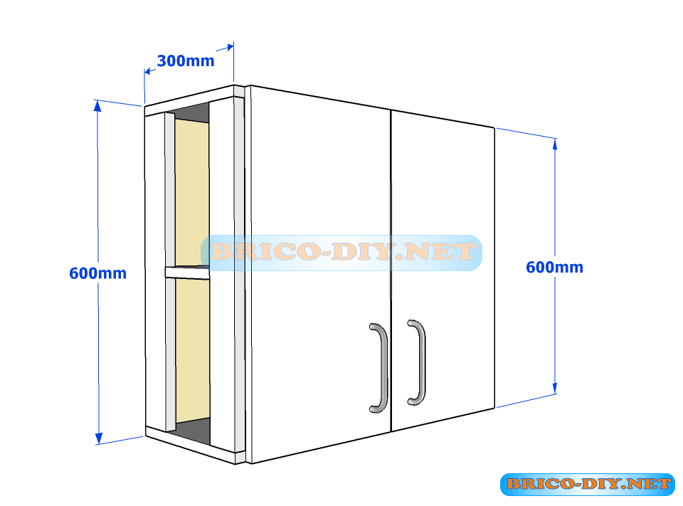 muebles de cocina plano de alacena de melamina esquinera