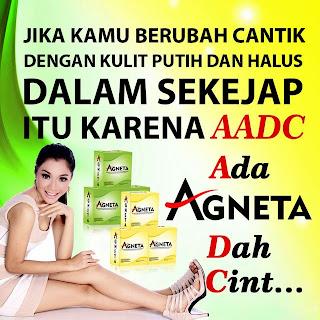 Apa itu AGNETA???     INI PRODAK BARU!!! YG LG HANGAT2 NYA BUAT Org indonesia YG PENGEN BANGET Cpt PUTIH DLM WKT SINGKAT YG INI HASILNYA      LEBIH CEPAT <=-P    BELI 1 paket FREE ONGKIR ! Produk Agneta ada Susu Soya, dengan rasa Vanilla.      KOMPOSISI Unggulan didalamnya : - Soya, kenapa cuman soya aja mahal, beli susu kedelai di pasar murah..? Beda yaa... soya di Agneta sudah mengalamai proses teknologi nano yang memudahkan penyerapan ditubuh Soya mengandung berbagai zat senyawa anti aging ( menghambat penuaan dini)     - Collagen, fungsi collagen dapat membuat kulit lebih kencang, mengurangi garis2 keriput di wajah, dapat mencegah penuaan dini menjaga elastisitas kulit, menjaga kulit tetap sehat. 4000mg Collagen ada dalam 1 sachet.     - Glutathione, sebenernya tubuh kita memproduksi glutathione hampir diseluruh tubuh kita, tetapi karena proses makan dan kehidupan yg tidak teratur, zat kimia berbahaya dalam makanan, maka Agneta menyediakan Formula yang mengandung Glutathione yang fungsinya sebagai Antioksidan. Melindungi kita dari berbagai penyakit.. 360mg Gluthathione terkandung dalam setiap 1 sachet Agneta.     - Ganggang Laut, Asli dari Laut Slandia.. Dan cuman Agneta yang menggunakan ini..  Ganggang memiliki beta-karoten tinggi yang membantu melawan beberapa jenis kanker dan penyakit kardiovaskular, kaya akan antioksidan, membantu dalam produksi enzim yang dibutuhkan untuk menjaga kenormalan fungsi tubuh, Ganggang memiliki banyak kandungan enzim sehingga mudah dicerna. !  mengandung asam amino, mineral, dan vitamin yang penting untuk pertumbuhan rambut, kulit dan kuku.