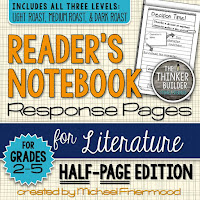 https://www.teacherspayteachers.com/Product/Gr-2-5-Readers-Notebook-Response-Pages-for-Literature-HALF-PAGE-SET-766284