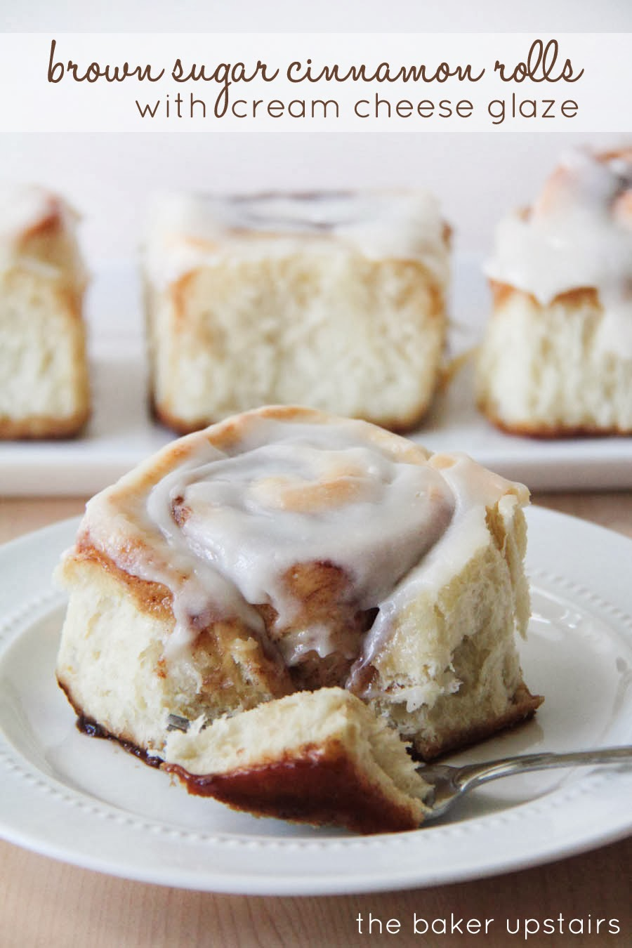 brown sugar cinnamon rolls with cream cheese glaze