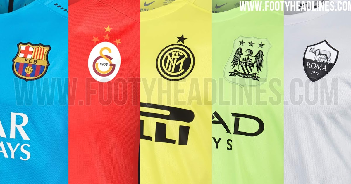 Leaked! Nike Barcelona, Galatasaray, Inter, Man City and Roma 'Night Rising' 15-16 Third Kits To Be Launched Tomorrow