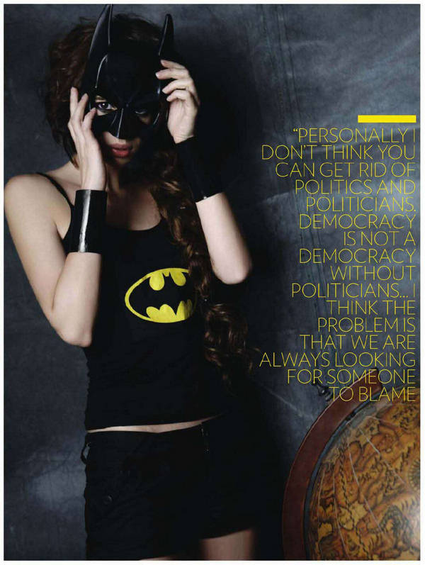 Kalki Koechlin Bat Woman In FHM Magazine