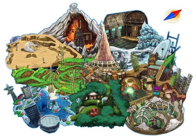 Digimon World Map File Island
