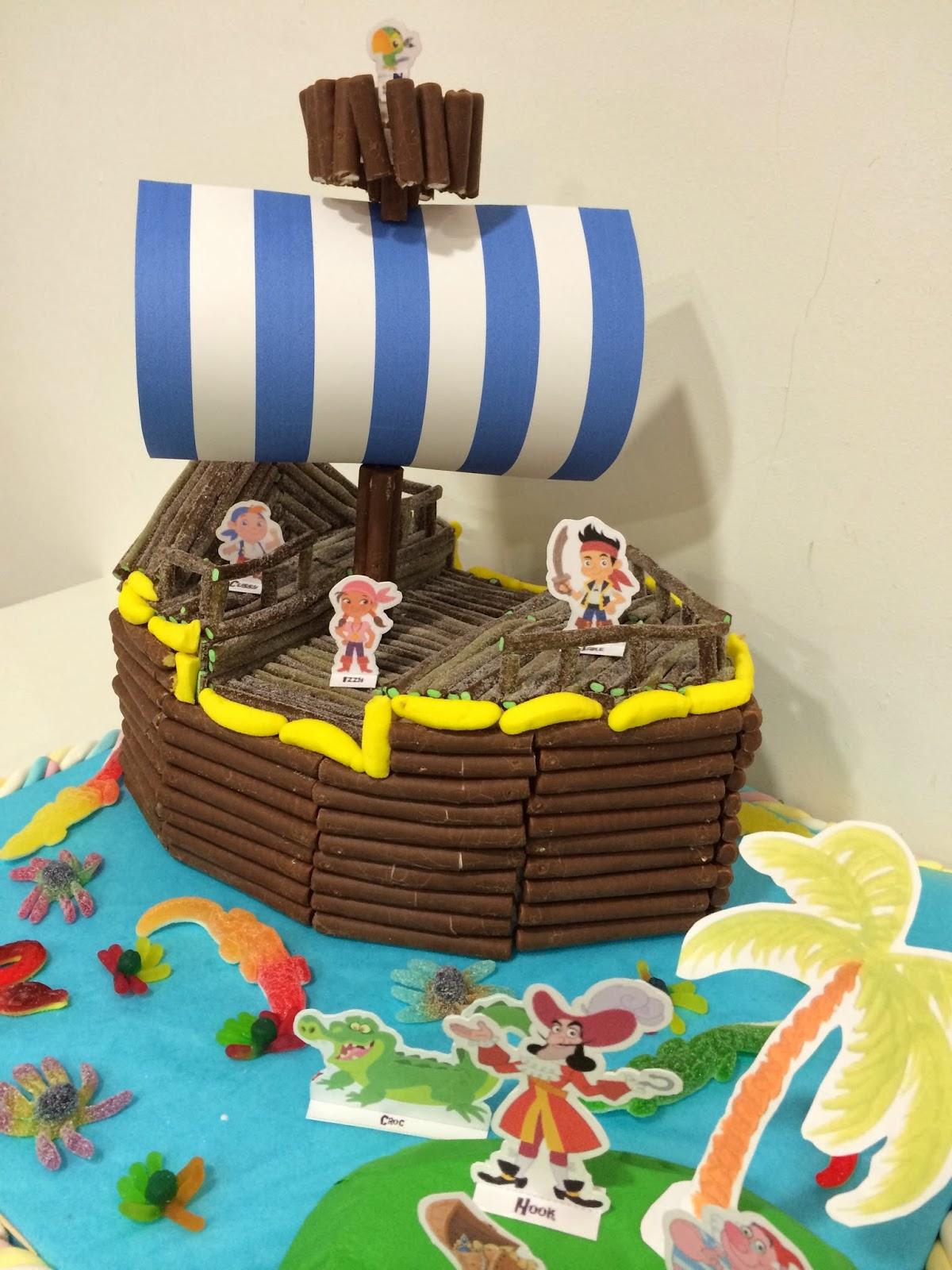 tarta jake y los piratas
