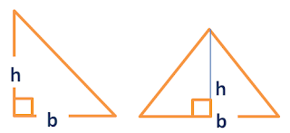 Area triangle given base and height