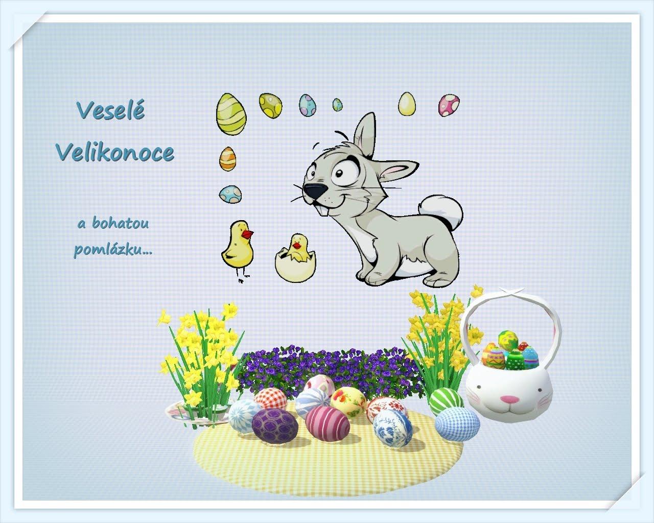 Velikonoční přání ke stažení
