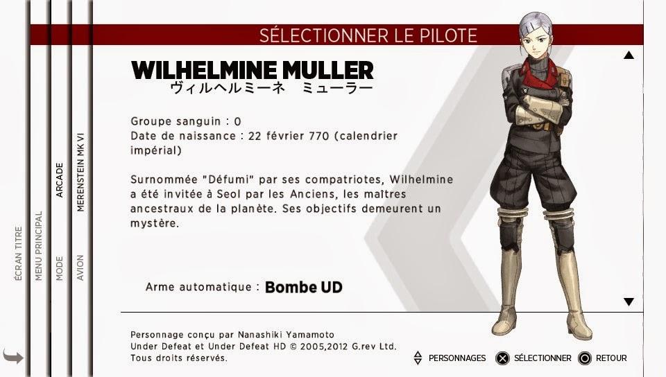 Personnage Wilhelmine Muller - Sine Mora