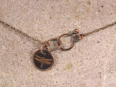 Antiqued Brass Chain w/ Handmade Copper Clasp & Etched Copper Logo Charm
