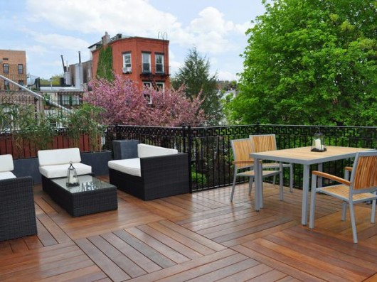 Rooftop Wood Deck Designs Picture