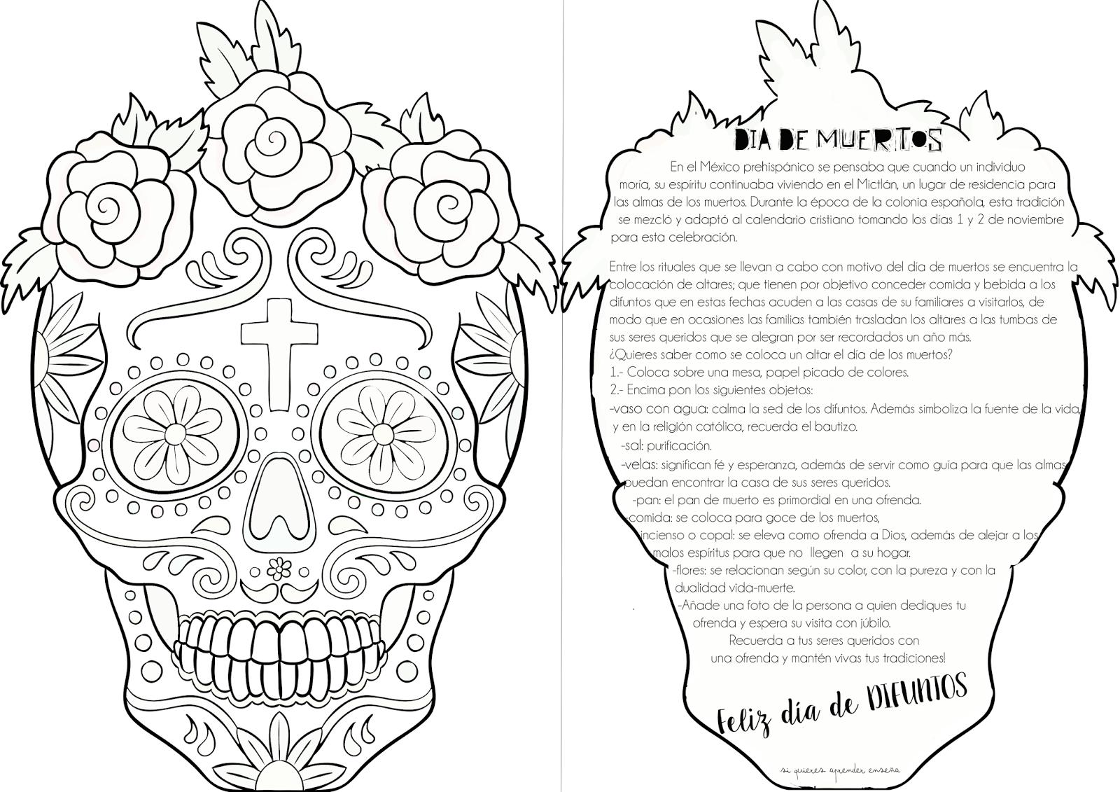 Atractivo Libro De Colorear Muerto Agradecido Galería - Dibujos Para ...