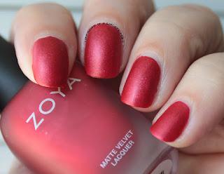 Zoya Matte Velvets for Winter 2015 - Amal