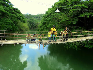 Hanging bridge at Sevilla Bohol