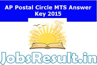 AP Postal Circle MTS Answer Key 2015