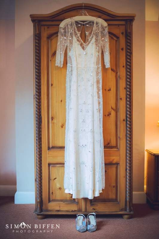 St Audries Park Wedding Bridal dress and shoes