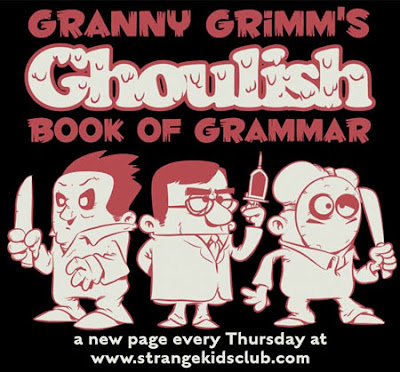 Granny Grimms Ghoulish Book of Grammar comes to the Clubhouse | Strange Kids Clubhouse.