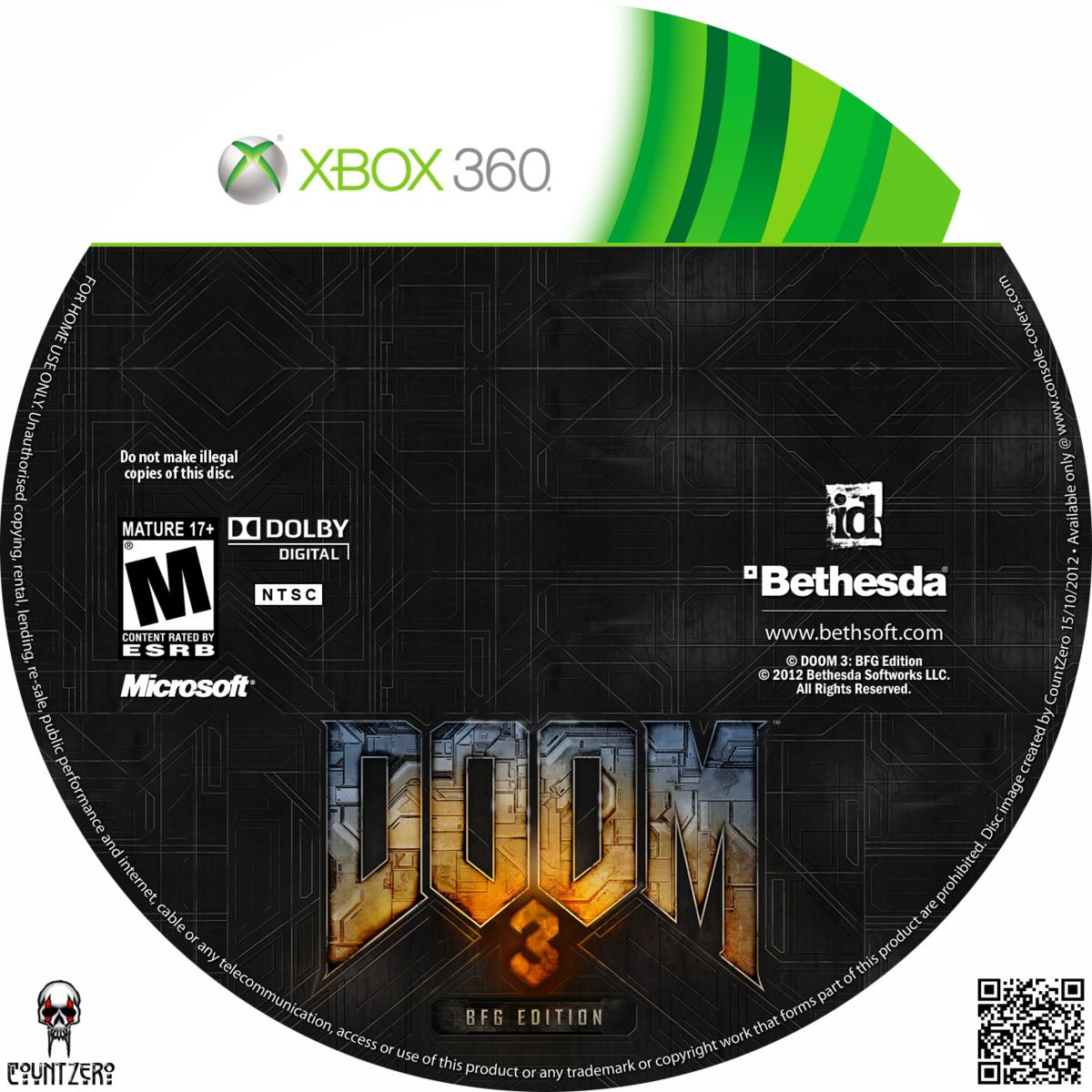 Label Doom 3 BFG Edition Xbox 360