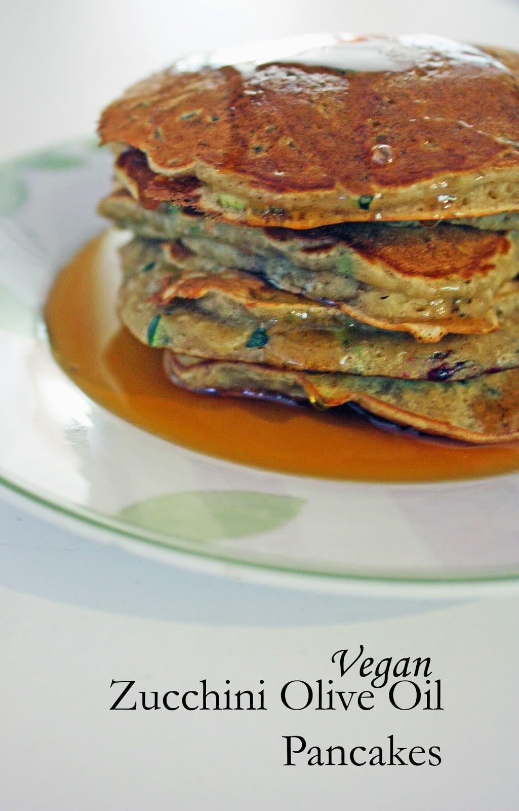 vegan olive oil zucchini pancakes