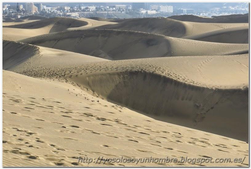 Otra vista de las dunas desde la cresta de una de ellas