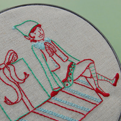 Holiday Elf Embroidery Pattern SeptemberHouse