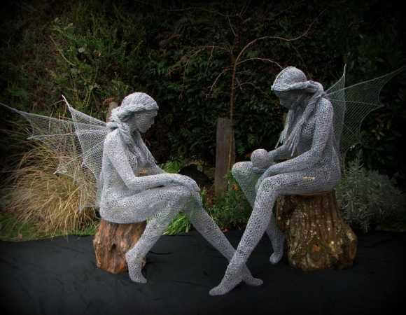Derek Kinzett esculturas feitas de arames Serenidade e Cristal