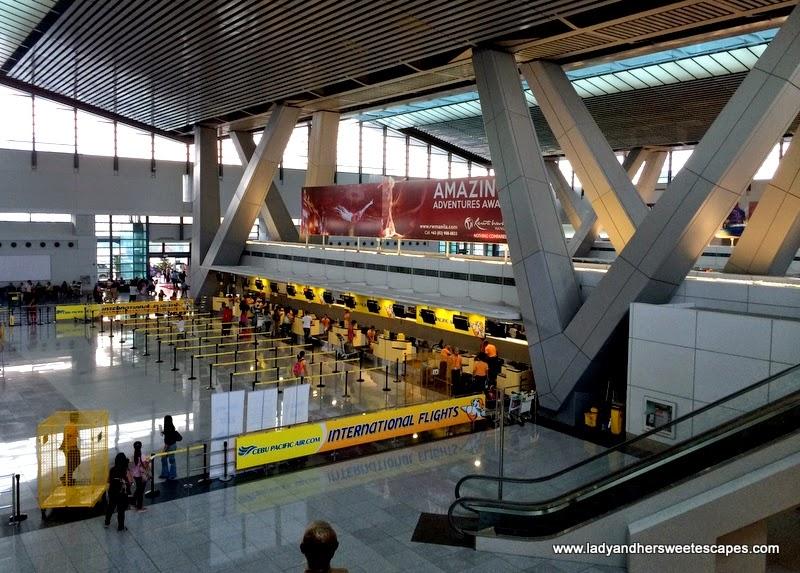 Cebu Pacific check-in counters for international flights at NAIA Terminal 3