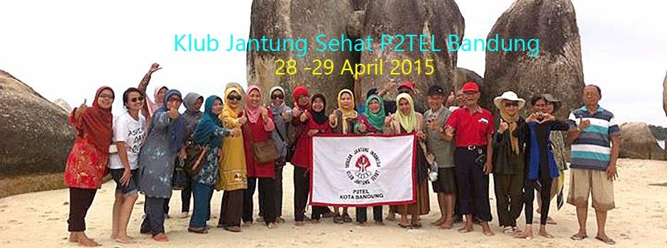 Gathering Klub Jantung Sehat P2TEL Bandung di pulau belitung