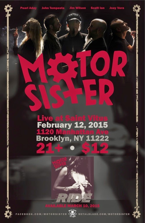 Motor Sister (Scott Ian + Mother Superior's Jim Wilson) Plays St. Vitus on Feb. 12th / Debut Out March 10th on Metal Blade