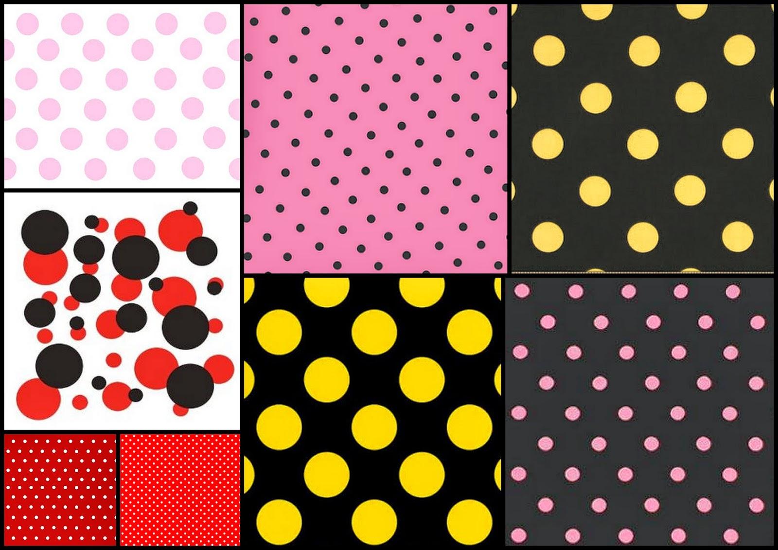 Selección de Fondos con Lunares de Colores para tus Decoraciones.