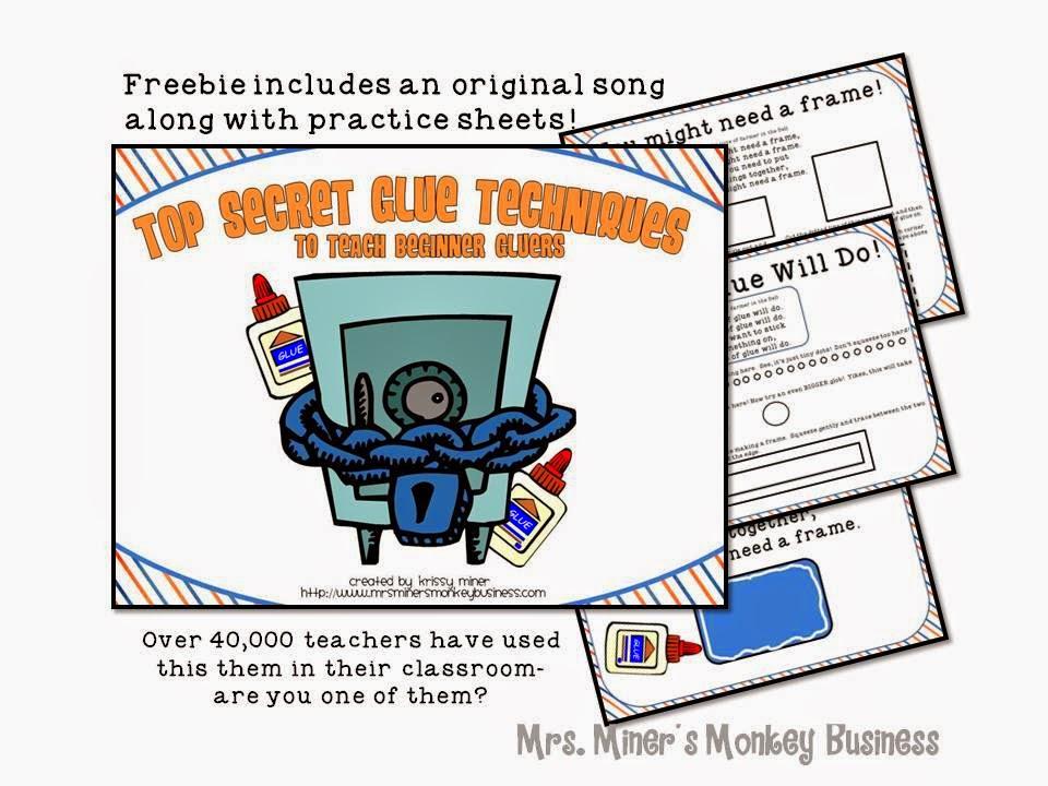 http://www.teacherspayteachers.com/Product/Top-Secret-Gluing-Techniques-for-Beginning-Gluers-148022