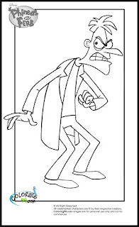 phineas and ferb dr heinz doofenshmirtz coloring pages