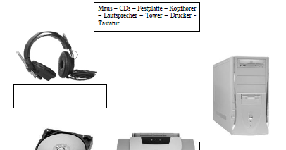 Computer-AG: Einstieg: Computerteile