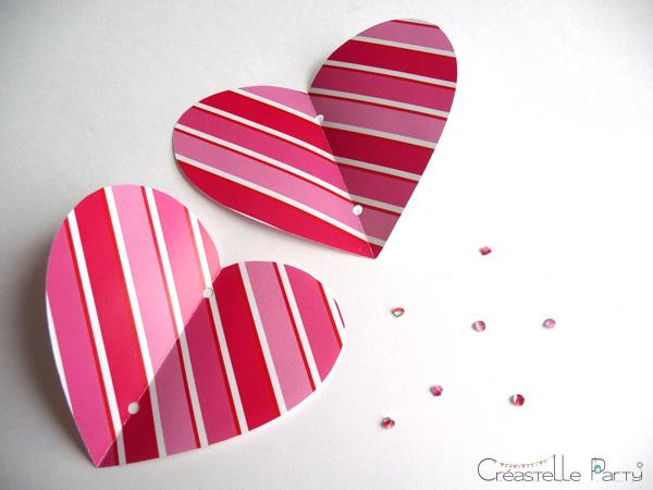 DIY cœur 3D papier / 3D paper heart