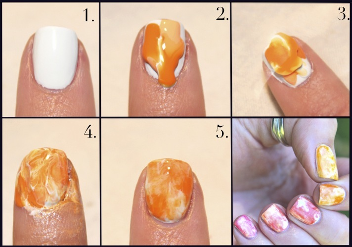 Wondrously Polished Water Color Nails Tutorial