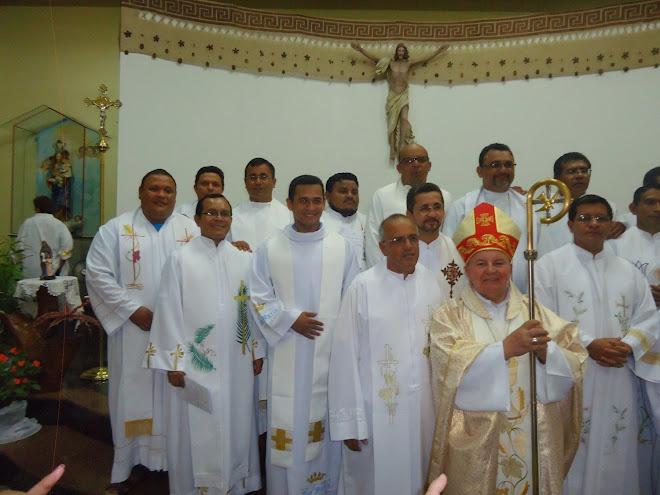 Clero da Diocese de Coari em Manacapuru - 03.04.2014