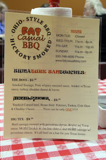 Fat Casual BBQ Menu Front
