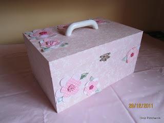 caixa revestida com tecido - deiapatchwork.blogspot.com