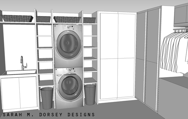 Sarah m dorsey designs laundry room plans for Laundry plan
