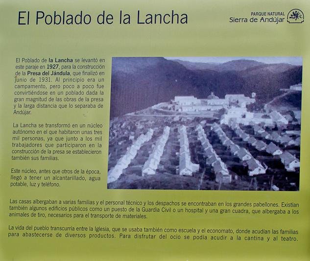 Andújar en la historia: Poblado del Pantano de la Lancha.-