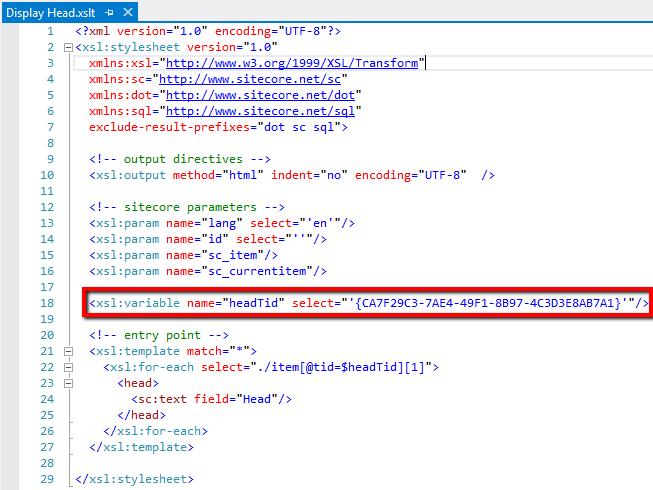 Sitecore Responsive Email Head XSLT Source