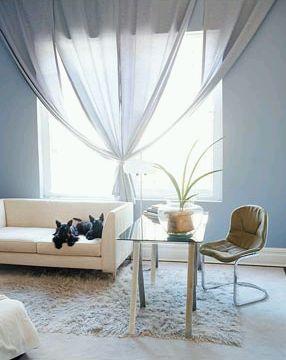 Modern curtains for living room part 2 - Cortinas blancas modernas ...