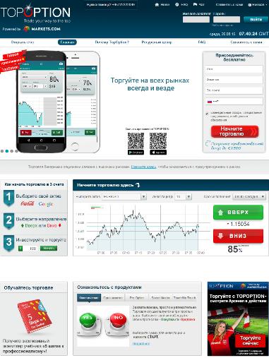 Сайт и платформа TopOption