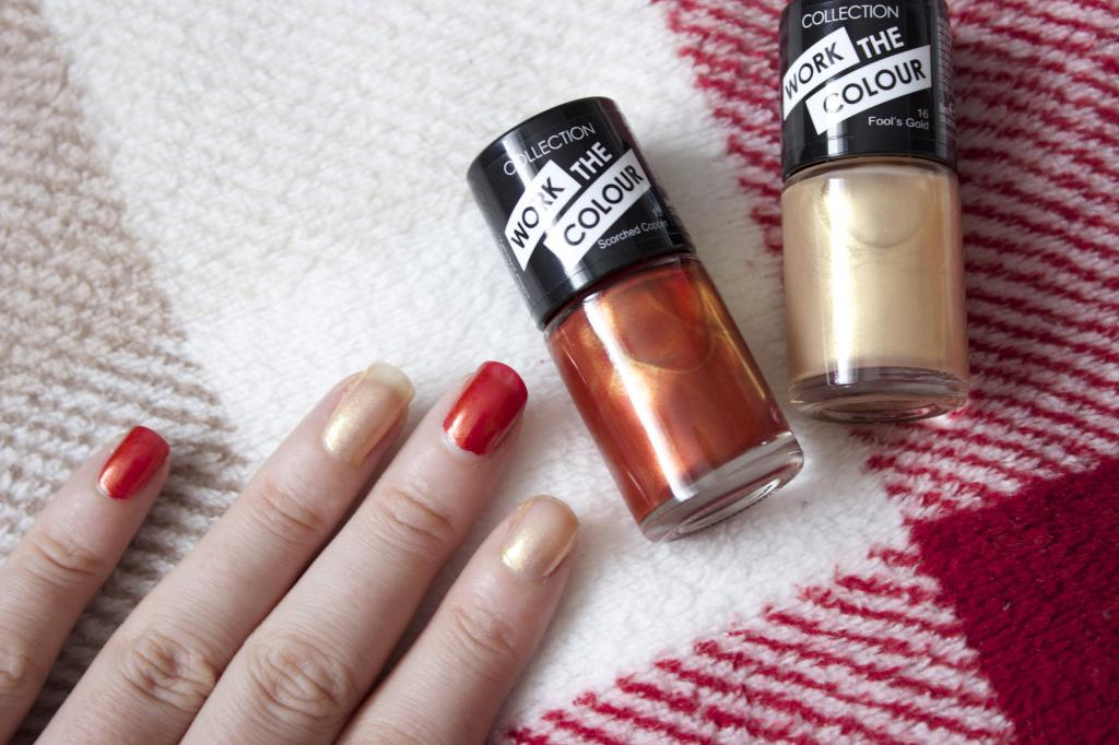 Collection autumnal nail polishes