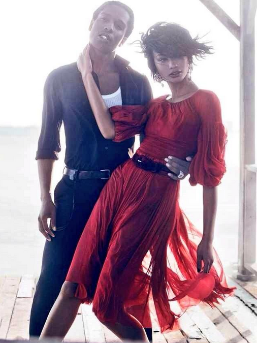 Asap Rocky & Chanel Iman for Vogue September issue 2014
